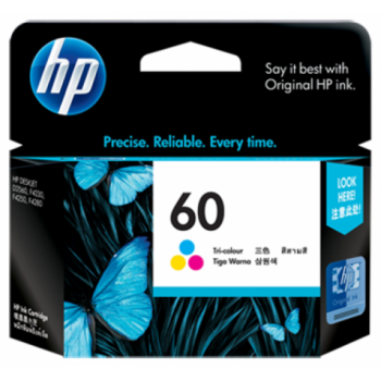 HP 60 Tri-color Ink Cartridge (CC643WA)