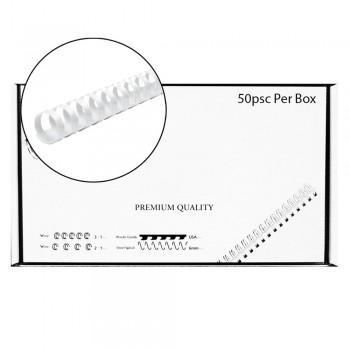 M-Bind Plastic Binding Comb - 22mm x 21 Ring, 50pcs/box, White