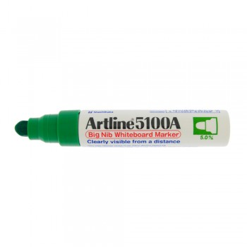 Artline 5100A whiteboard Big nib marker 5mm - Green