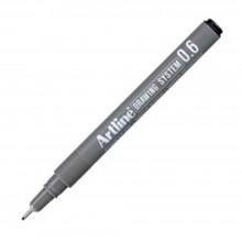Artline Black Drawing System Pen 0.6mm (EK-236)