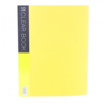 CBE Merry Colour Clear Book VK10 A4 YELLOW ( ITEM NO : B10 53 Y )