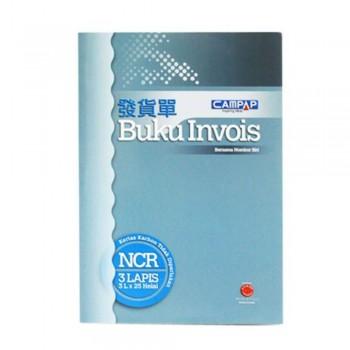 Campap Ca3845 25X3P Ncr Invoice Book
