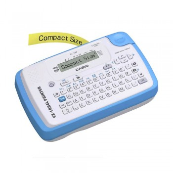 Casio Label Printer - 12 Digits, 1-Line LCD, Compact Size, Barcode Printing, 12mm Print Head (KL-130)