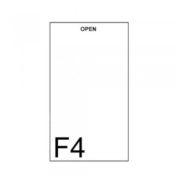East-File Clear / Transparent - U Shape F4 Folder (Item No: B11-42 UF4) A1R3B189