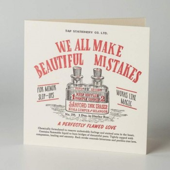 Letterpress Card - Love - We All Make Beautiful Mistakes