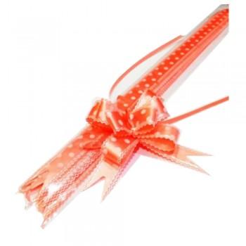 Pull Flower Ribbon Cotton 23mm Peach (10 pcs)