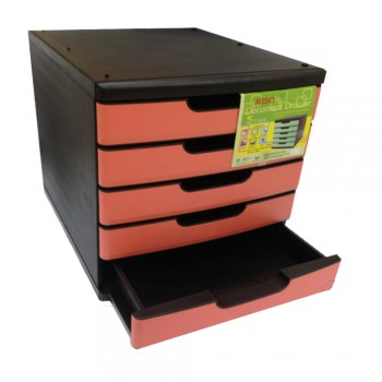 Niso 5 Tier Letter Tray Pink (8822)