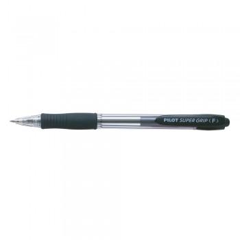 Pilot BPGP-10R Fine Super Grip Ball Pen 0.7mm - Black