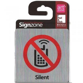Signzone Peel & Stick Metallic Sticker - Silent (Item No: R01-24)