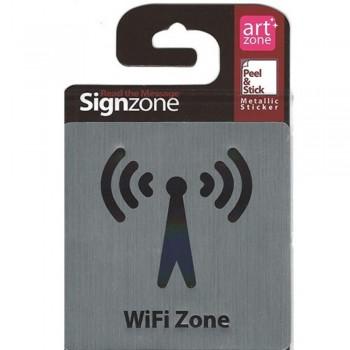 Signzone Peel & Stick Metallic Sticker - WiFi Zone (Item No: R01-27)