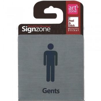 Signzone Peel & Stick Metallic Sticker - Gents (Item No: R01-31)
