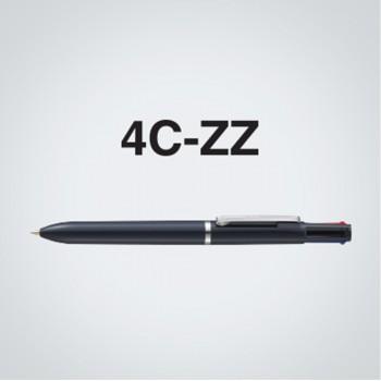 Zebra 4C-ZZ 4 Colour Ball-Point Pen Solid White
