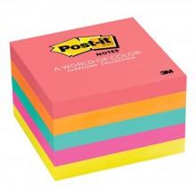 """3M 654-5PK Post-It 3""""x 3"""" 5PK Cape Town Color 5 Pads"""