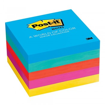 "3M 654-5UC Post-It 3"" x 3"" 5PK Jaipur Color 5 Pads"