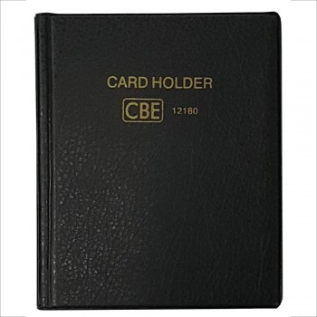 CBE 12180 PVC Name Card Holder - Black
