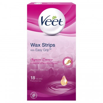 Veet Wax Strip Suprem Essence 18's