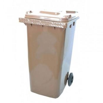 LEADER Mobile Garbage Bins BP240 Brown