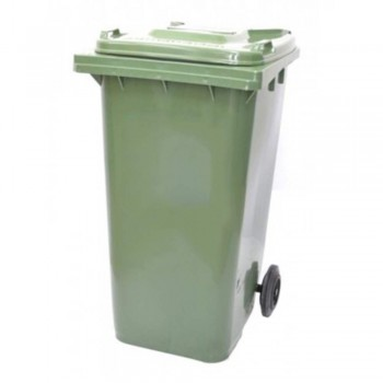 Mobile Garbage Bins 120-PEDAL (with Foot Pedal) Green (Item No: G01-65)