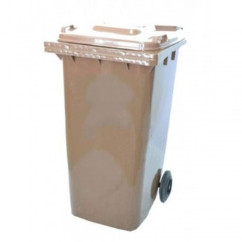 Mobile Garbage Bins 120-PEDAL (with Foot Pedal) Brown (Item No: G01-68)