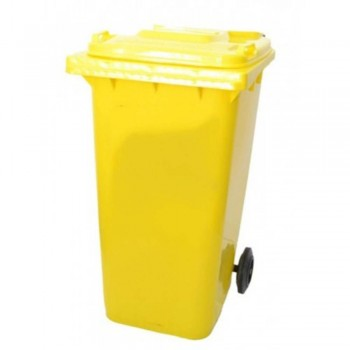Mobile Garbage Bins 120-PEDAL (with Foot Pedal) Yellow (Item No: G01-69)