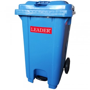Mobile Garbage Bins with Foot Pedal 80L - Blue
