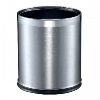 Stainless Steel Round Waste Bin - Double Layer RB-083/SS