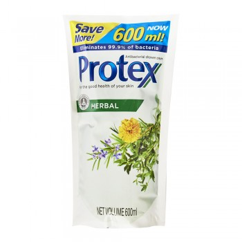 Protex Herbal Antibacterial Shower Gel 600ml Refill