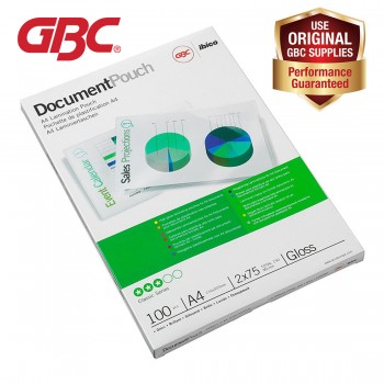 GBC Laminating Pouch 100 Mic 216x303mm A4