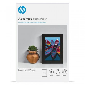 HP Advanced Glossy FCS Photo Paper-50 sht/10 x 15 cm