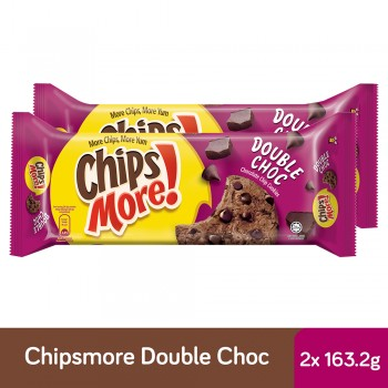 Chipsmore Double Choc Cookies (163.2g x 2)