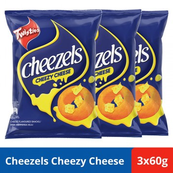 Twisties Cheezels Cheese (60g x 3)