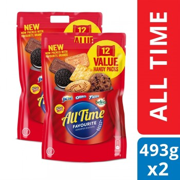 All Time Assorted Multipack Biscuits (493gx2)