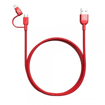 Adam Elements Peak Duo 120B Lightning Cable - Red