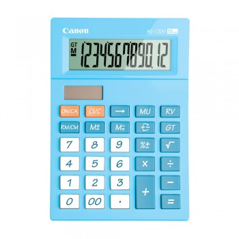 Canon AS-120V-BL Arc Design Desktop 12 Digits Calculator (Blue)