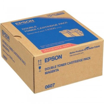 Epson SO50607 Double Pack Magenta Toner (Item No:EPS SO50607)
