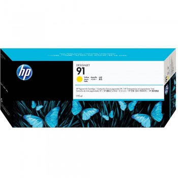 HP 91 DesignJet Pigment Ink Cartridge 775-ml - Yellow (C9469A)