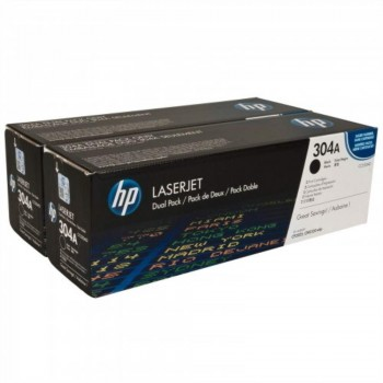 HP 304A Black Dual Pack Toner Cartridge (CC530AD)