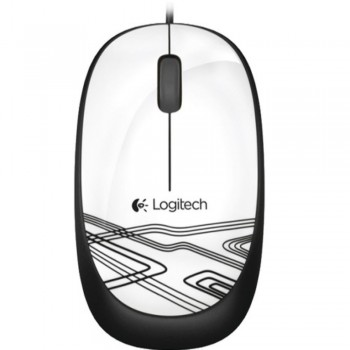 Logitech Mouse M105 - Wired Optical Mouse WHITE