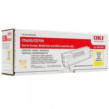 OKI C5650 C5750 Yellow Toner Cartridge (43872309)