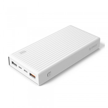 Orico K Series 20000mAH Power Bank with QC3.0/QC2.0/FCP/BC1.2/MTK/PE2.0/PE1.1/AFC/Type-C - White