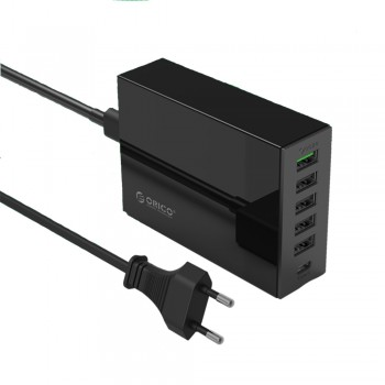 Orico TSL-6U 6 port USB Charger with QC 2.0 & Type C port