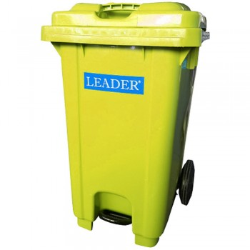Mobile Garbage Bins with Foot Pedal 80L - Yellow