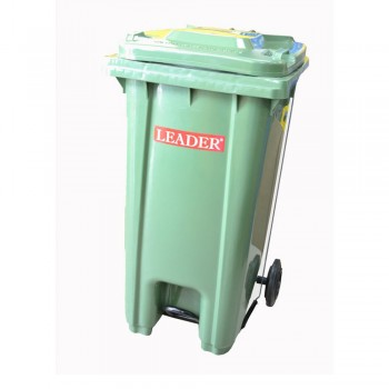 Mobile Garbage Bins 240-PEDAL (with Foot Pedal) Green (Item No: G01-71)