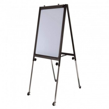 Conference Flip Chart FC23R - 111-198H x 66W x 61-98D - Black (Item No: G05-05)