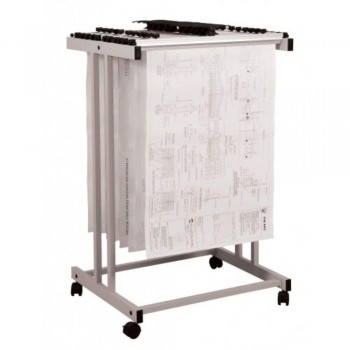 Plan Hangers Stand PHS199 - Top Loading - A1 Size -(Hanger Clamps Sold Separately) A8R1B12