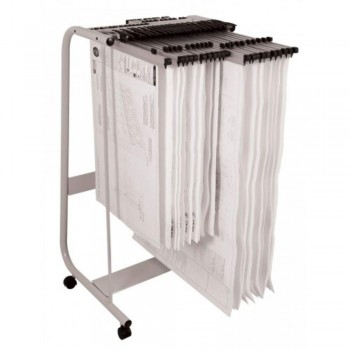Plan Hangers Stand PHS388 - Front Loading - A1, A0 Size - 35 Plan Hangers (Hanger Clamps Sold Separately) G05-09