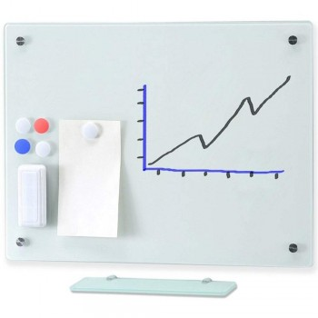 MGW69 Magnetic Glass Board 90 x 60CM (Item No:G05-200)