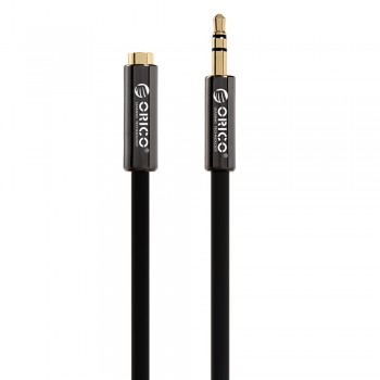 Orico FMC-20 2M 3.5mm Male To Female AUX Cable - Black