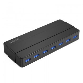 Orico H7928-U3 7 Port USB3.0 Desktop HUB With Power Adapter - Black