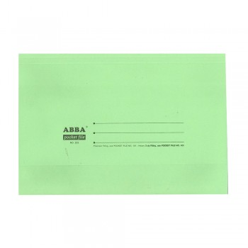 Color Pocket File 230gsm Green